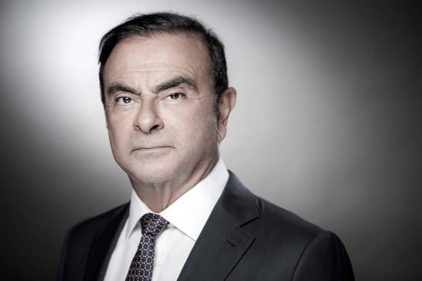 Carlos Ghosn poses during a photo session in the Paris suburb of Boulogne-Billancourt on Sept. 12, 2018.  | AFP-JIJI