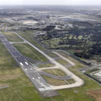The operator of Narita International Airport is planning to extend runway B, shown in this photo taken in April last year. | KYODO