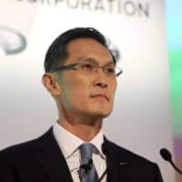 Stephen Ma, incoming chief financial officer of Nissan Motor Co., attends a news conference at the company's headquarters in Yokohama on Tuesday. | BLOOMBERG