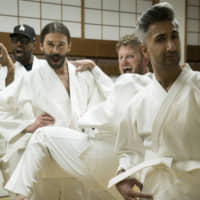 Dressed to impress: The five stars of 'Queer Eye' took on four 'heroes' who were in need of some life guidance during their trip to Tokyo. | PHOTO COURTESY OF KELLI FALLS / NETFLIX VIA KYODO
