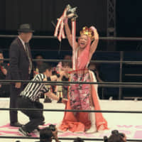 Queen of the world: Hana (right) is crowned the champion at a wrestling match on 'Terrace House Tokyo 2019-2020.' | © FUJI TELEVISION / EAST ENTERTAINMENT