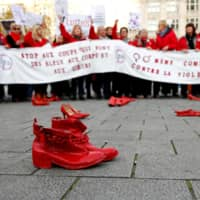 Thousands in Belgium march to demand end to violence against women