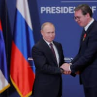 Serbia's president accuses Russia of massive spying but feels Putin is not in the loop