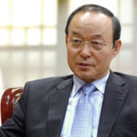 South Korea's then-foreign minister, Song Min-soon, speaks during an interview in Seoul in October 2007. | BLOOMBERG