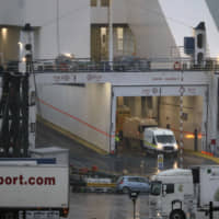 Sixteen migrants found in sealed container on France-to-Ireland ferry