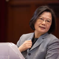 Taiwan President Tsai Ing-wen holds a news conference for foreign correspondents in Taipei on Jan. 5. | BLOOMBERG
