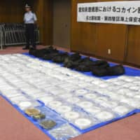 Record 400 kg of cocaine worth ¥8 billion seized at Kobe port last month, sources say