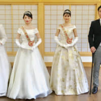 Emperor's enthronement parade inspiring wedding dresses and tours