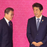 'Friendly and serious' Abe-Moon talks belie reluctance to compromise on both sides