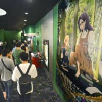 People wait to see 'Violet Evergarden Story: Eternity and the Auto Memory Doll' ('Violet Evergarden Gaiden: Eien to Jido Shuki Ningyo'), the first film released by Kyoto Animation Co. since July's deadly arson attack, at a movie theater in the city of Kyoto on Sept. 6. | KYODO