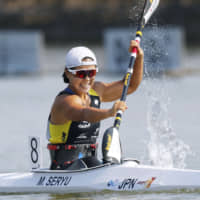 Canoeist Monika Seryu finishes fifth at the Paracanoe World Championships in August in Szeged, Hungary, earning a spot in the 2020 Paralympic Games. | KYODO
