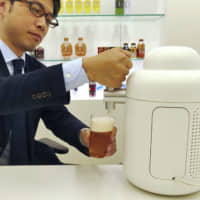 Kirin Brewery Home Tap service delivers 4 liters of fresh, direct-from-the-factory beer to homes for a monthly fee of ¥8,100. | KYODO