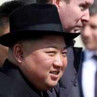 North Korean leader Kim Jong Un prepares for his return to Pyongyang at a railway station in Vladivostok, Russia, in April after a summit with President Vladimir Putin. | BLOOMBERG