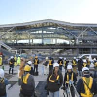 JR East shows off a nearly complete Takanawa Gateway Station, the Yamanote Line's newest stop
