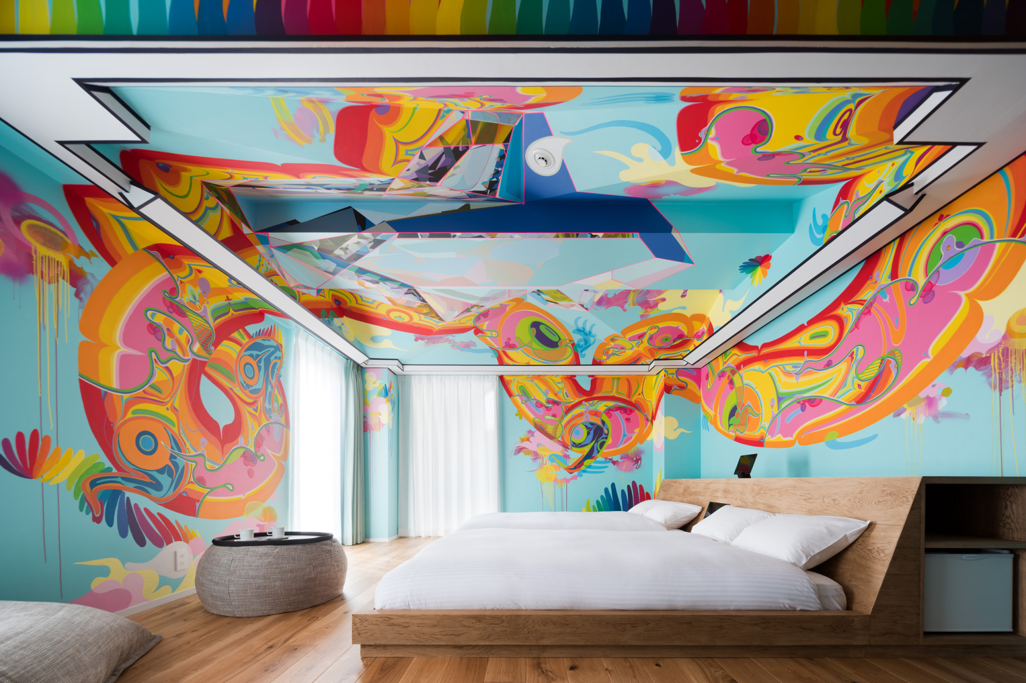 Artistic impact: Abstract art pops in the BnA Alter Museum's 'Nextefx' room, designed by artist Mon Koutaro Ooyama. | TOMOOKI KENGAKU
