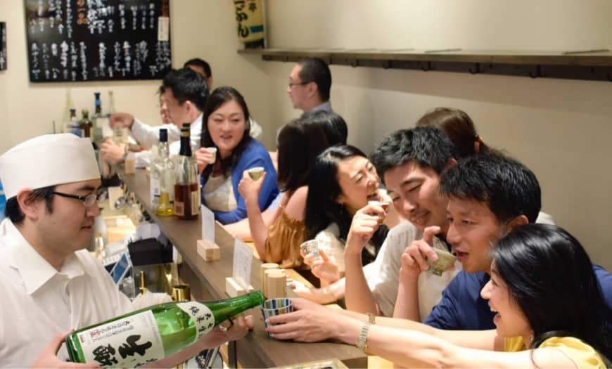 The more the merrier: The best part about a standing bar is that it's easy to make room for another person (or five).   COURTESY OF SANBUN