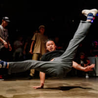 A break dancer performs at the Vibration Urbaines Japan Cypher qualifier in Tokyo in July. | DAN SZPARA