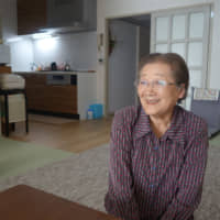 Sachiko Miura, 81, moved into a serviced apartment managed by Yuimarl Jinnan this year after losing her husband five years ago. | ALEX MARTIN