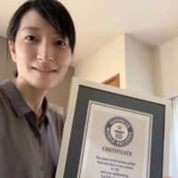 Yui Fukuda holds the world record for most facial tissues pulled out of a box in one minute. | COURTESY OF YUI FUKUDA