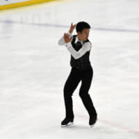 Lucas Honda (194.75) finished third in the men's competition. | RISA TANAKA