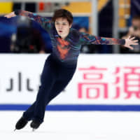 Shoma Uno competes in the men's short program at the Cup of Russia on Friday in Moscow. | REUTERS