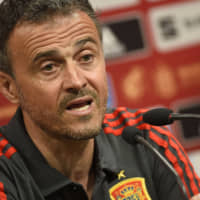 Luis Enrique, seen here in a file photo, will return to coach Spain after leaving due his late daughter's illness. | AFP-JIJI