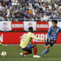 Japan U-22 lacks finishing touch in loss against Colombia