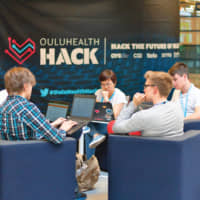 OuluHealth (innovative and proficient integrated health ecosystem in Oulu) organized Health Hack at the University of Oulu, focusing on digital transformation in health care. | © BUSINESSOULU