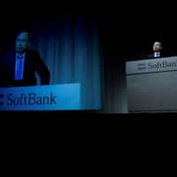 SoftBank Group Corp Chief Executive Masayoshi Son attends a news conference in Tokyo Nov. 5. | REUTERS