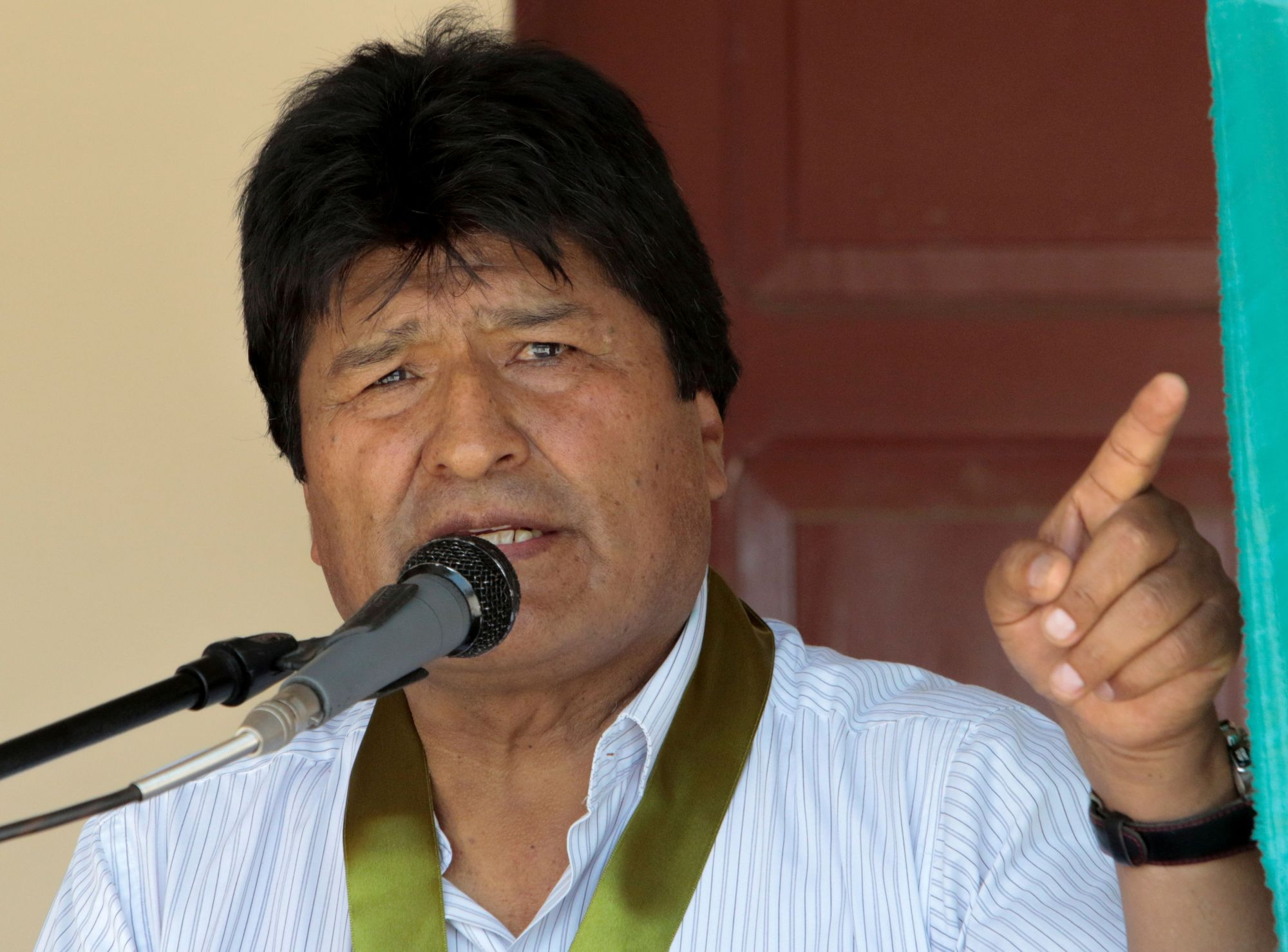 Bolivia's exiled former president, Evo Morales, is seen in October. | REUTERS