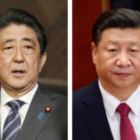 Prime Minister Shinzo Abe may hold talks with Chinese President Xi Jinping during his three-day China visit scheduled from Dec. 23.   KYODO
