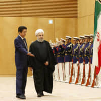 Iran's Hassan Rouhani urges Abe to strengthen bilateral economic ties during Tokyo visit