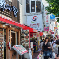 Nosing around: People shop in Shin-Okubo's Koreatown in the earlier half of the decade. The area attracted many Asian expats, some of whom sought out visiting K-pop acts like they were geisha in Kyoto. | SATOKO KAWASAKI