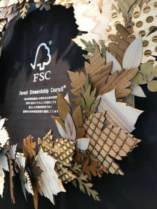 &Craft's decorative wreath product, made from FSC-certified Yamanashi wood. | MIO YAMADA
