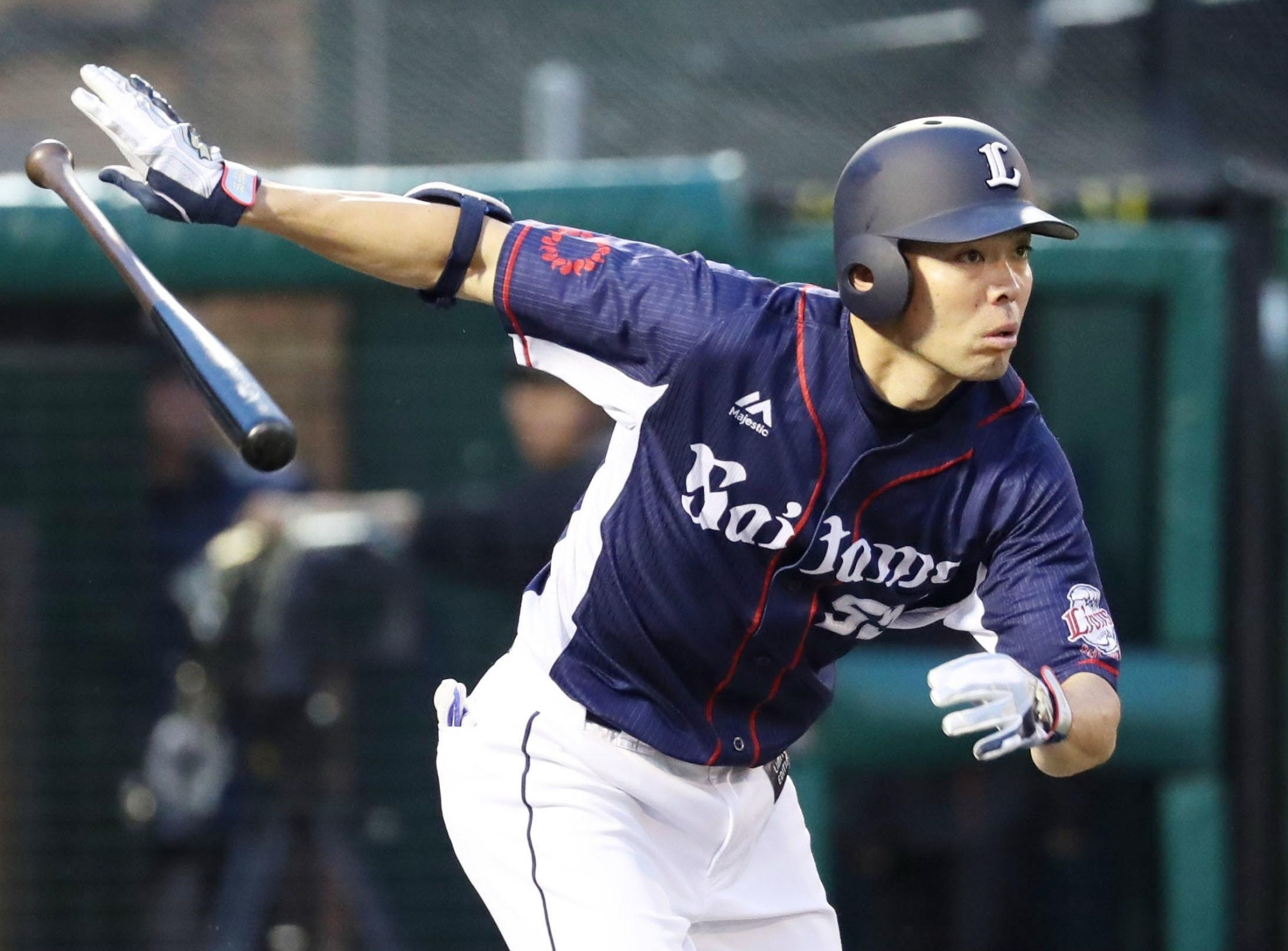 Longtime Seibu Lions star Shogo Akiyama, seen in an August 2017 file photo, is on the verge of joining the Cincinnati Reds. | KYODO