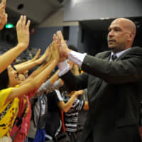 Former Chiba Jets coach Eric Gardow, seen in an October 2011 file photo, died last Friday. He was 51. | YOSHIAKI MIURA