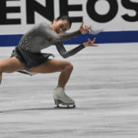 Four-time national champion Satoko Miyahara finished fourth, falling from second after Thursday's short program. | RISA TANAKA