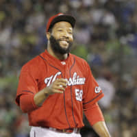 Former Hiroshima Carp reliever Jay Jackson is expected to sign a contract with the Chiba Lotte Marines for the 2020 season. | KYODO