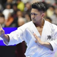 Ryo Kiyuna is a heavy favorite to win the men's karate kata competition in its Summer Games debut. | KYODO