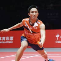 After missing the 2016 Rio Olympics as punishment for visiting an illegal casino, Kento Momota will be looking to redeem himself in Tokyo after a near-flawless 2019 season. | KYODO