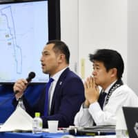 Koji Murofushi, the Tokyo 2020 sports director, speaks at a news conference on Thursday in Tokyo, where next year's Olympic marathon courses in Sapporo were revealed. | KYODO