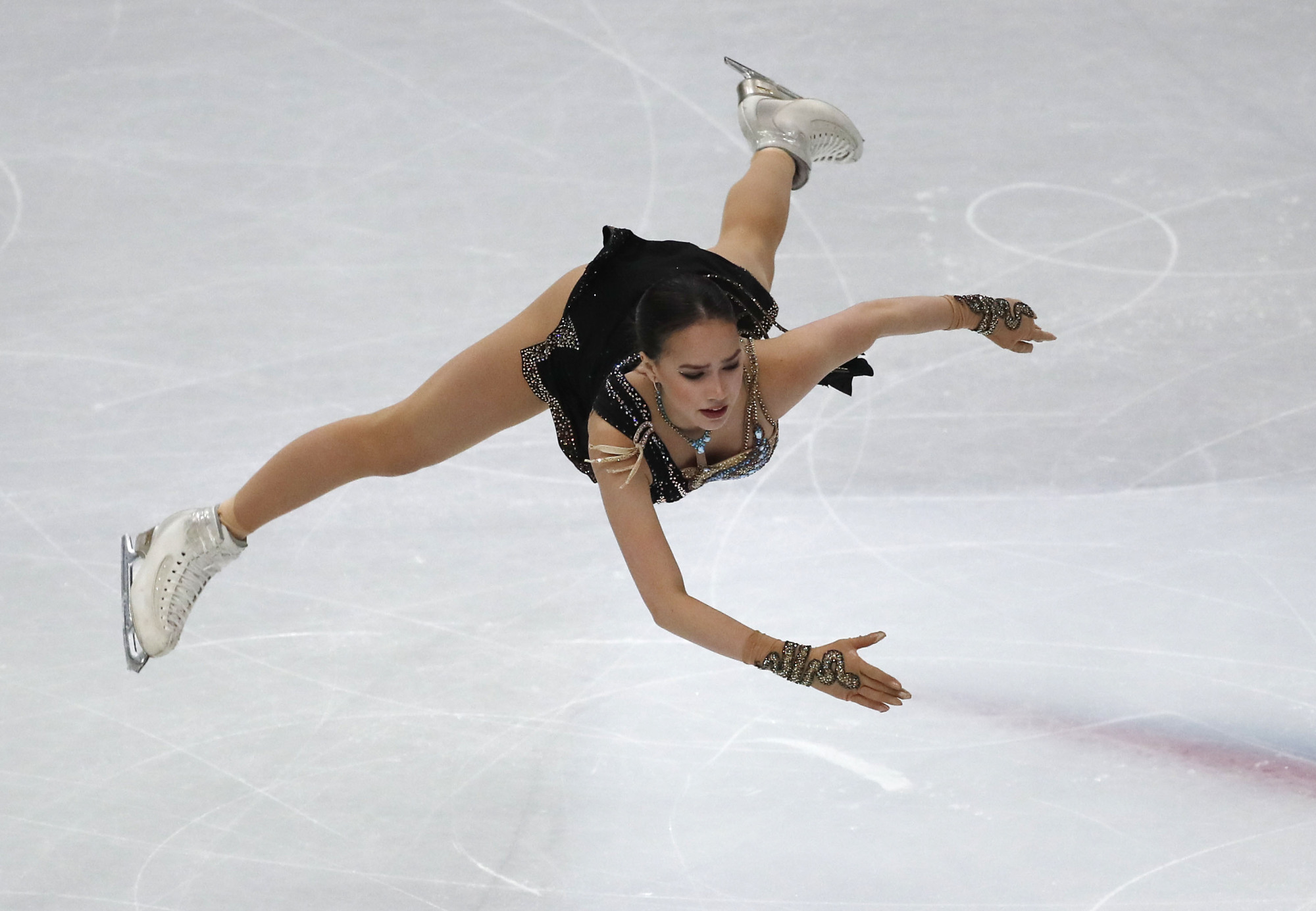 Reigning Olympic and world champion Alina Zagitova announced suddenly on Friday that she will not compete anymore this season. | AP
