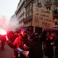 French unions take to streets in make-or-break pension protest