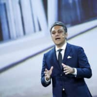 Italian car executive Luca de Meo, shown here at a media event in Barcelona, Spain, in June 2017, will reportedly be named chief executive officer of Renault SA this week.   BLOOMBERG