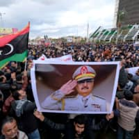 Libyans protest the Turkish decision to send forces on Friday in Benghazi. | REUTERS