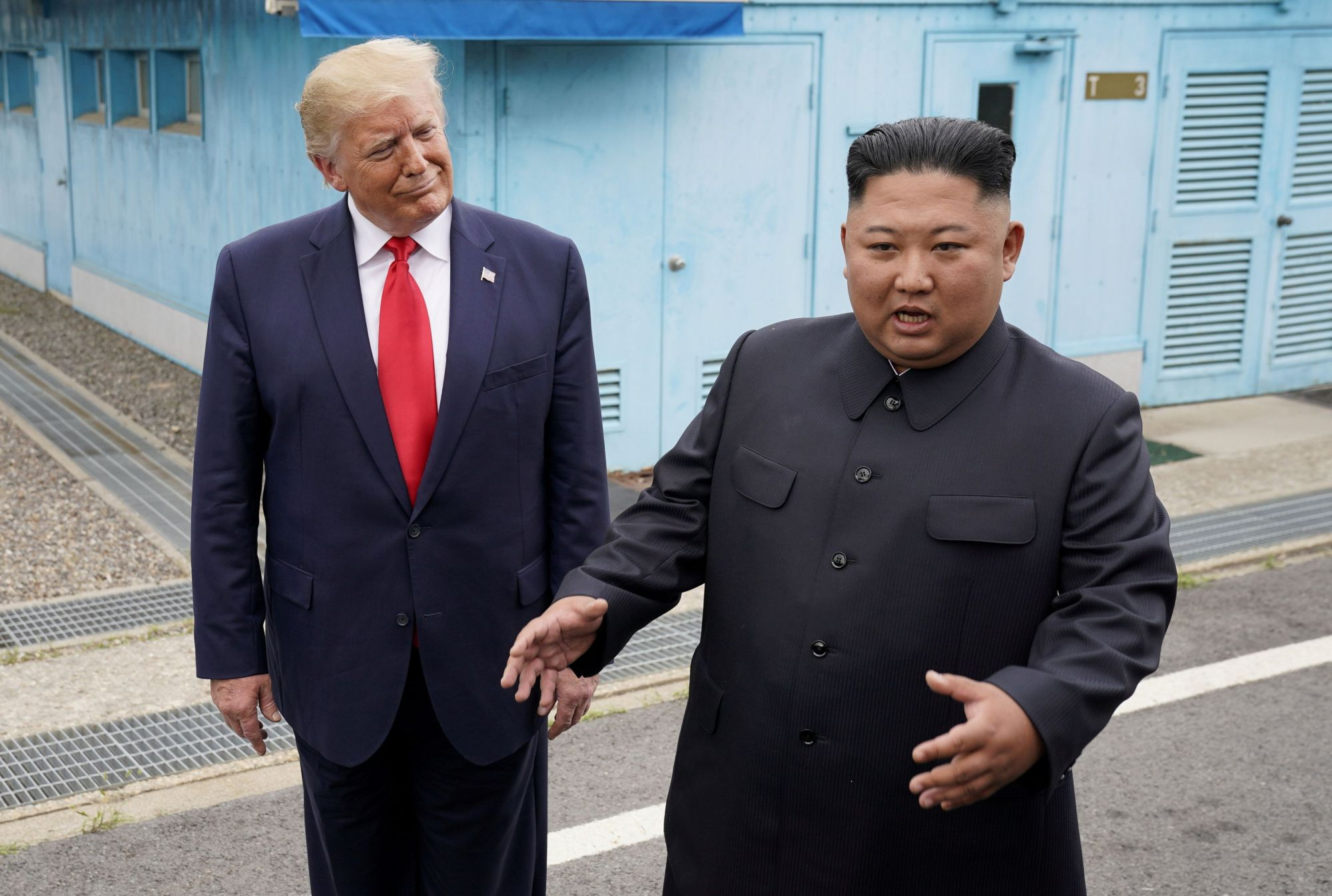 U.S. President Donald Trump meets with North Korean leader Kim Jong Un at the Demilitarized Zone separating the two Koreas, in Panmunjom, South Korea, on June 30. | REUTERS