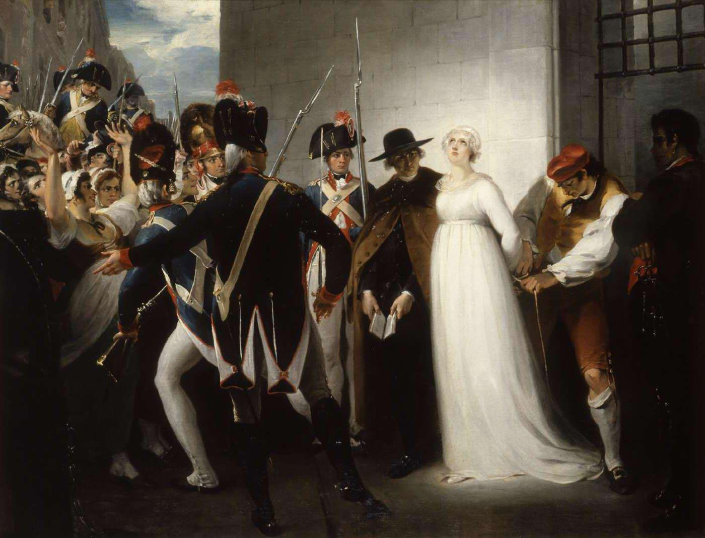 William Hamilton's 'Marie Antoinette Being Taken to Her Execution,' from the Museum of the French Revolution
