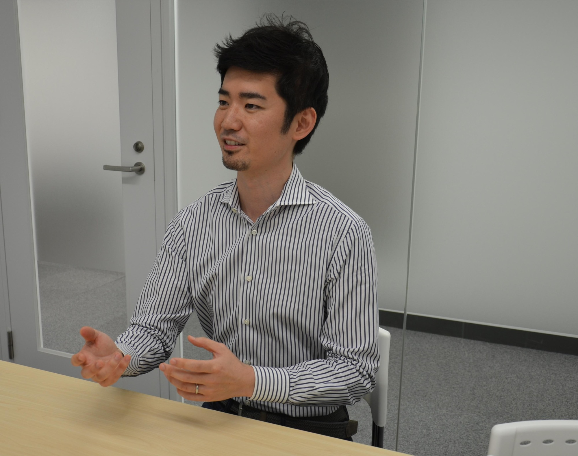 Dr. Sho Okiyama's startup company, Aillis Inc., is developing medical devices based on artificial intelligence. | KYODO