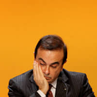 Carlos Ghosn, then president and chief executive officer of Renault, attends the company's annual shareholders meeting in the La Defense business district, near Paris, in April 2008.    REUTERS