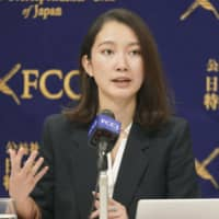 Shiori Ito speaks at the Foreign Correspondents' Club of Japan in Tokyo on Dec. 19. | KYODO